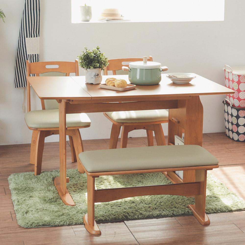 Home Feeling 餐桌椅組/1桌2椅1長凳/椅凳/餐椅(2色)
