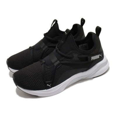 Puma 慢跑鞋 Softride Rift 運動 女鞋 襪套 輕便 簡約 透氣 舒適 球鞋 黑 白 19477201