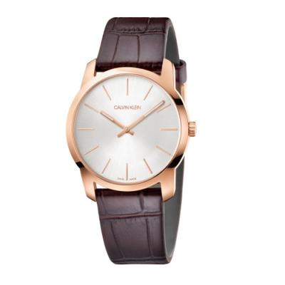 Calvin Klein CK簡約時尚皮帶腕錶(K2G226G6)37mm