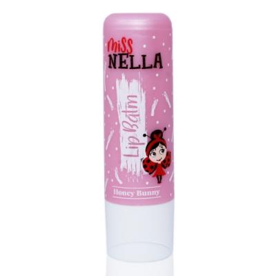 英國【Miss Nella】兒童水性胖胖款護唇膏-蜜糖裸粉
