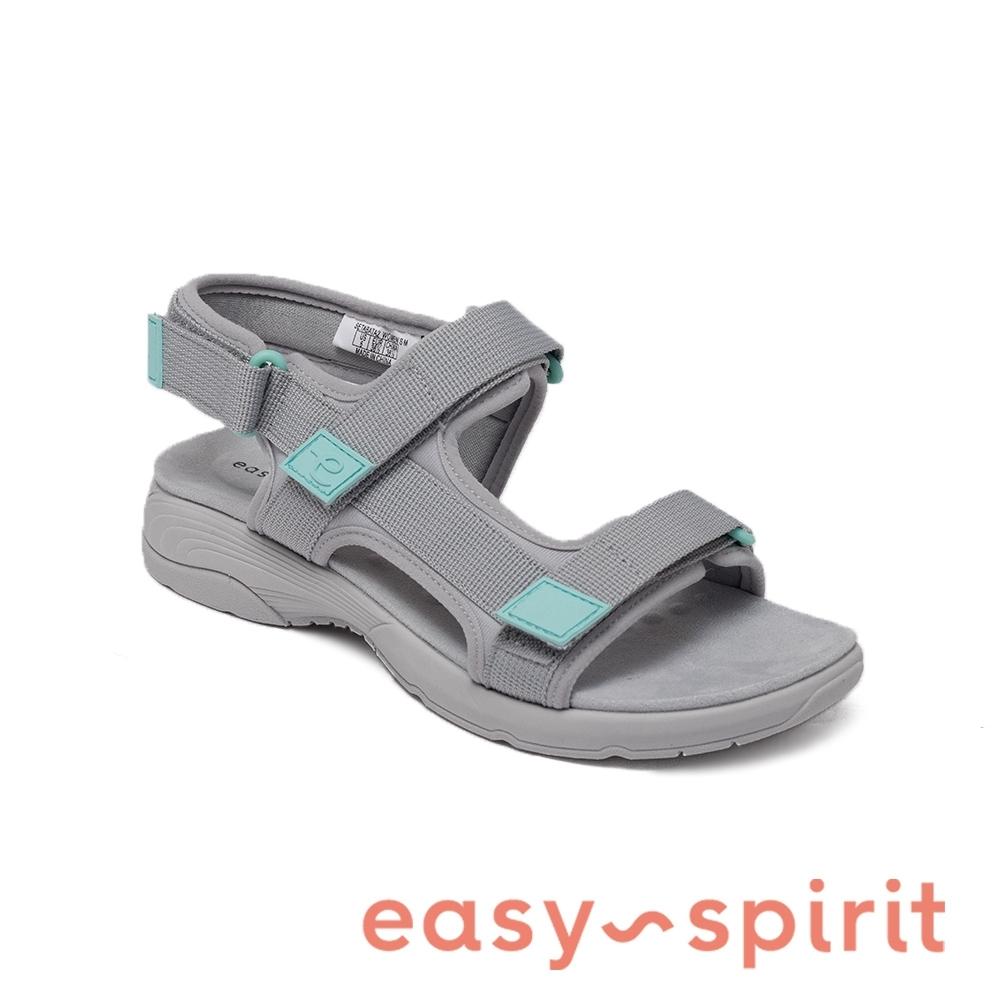 Easy Spirit-seTABATA2L 百搭休閒舒適魔鬼氈涼鞋-灰色