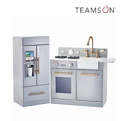 Teamson 小廚師雀兒喜現代風玩具廚房(銀灰色)