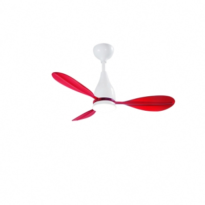 VENTO芬朵 PAGAIA船槳系列 42吋燈扇 白色本體 透紅葉片不含安裝