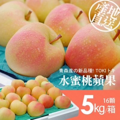 築地一番鮮-日本青森代表作TOKI水蜜桃蘋果禮盒組(皇后)16顆/5kg-免運組