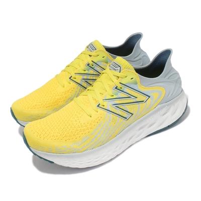 New Balance 慢跑鞋 1080 2E 寬楦 運動休閒 男款 紐巴倫 路跑 緩震 透氣 輕量 黃 灰 M1080C11-2E