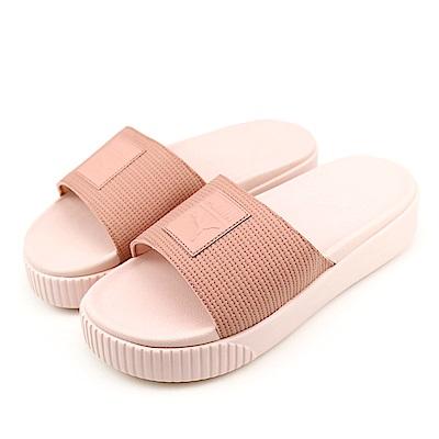 PUMA-女涼拖鞋36612201-粉