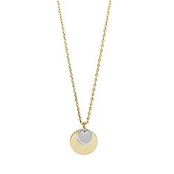 Orelia英國品牌 金銀雙片圓牌金色項鍊