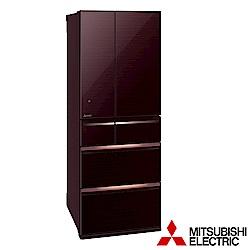 (贈好禮)MITSUBISHI三菱 605L 1級變頻6門冰箱 MR-WX61C-BR/W