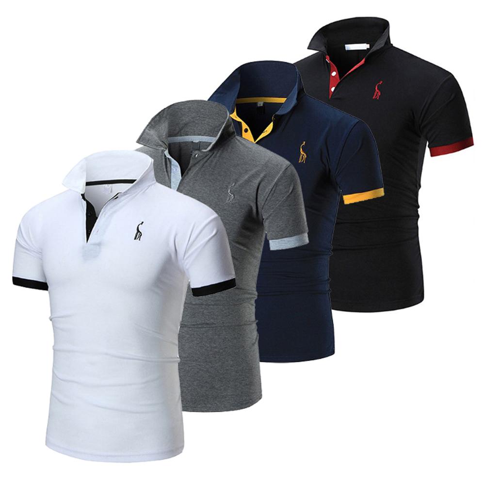 美國熊 簡約設計 修身顯瘦版型 立領撞色 短袖POLO衫
