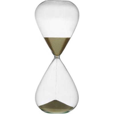 《VERSA》15分鐘圓弧玻璃沙漏(暗金)