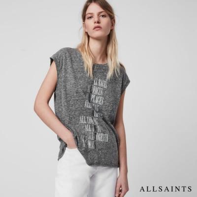 ALLSAINTS TONIC ALTERATION 文字標語 XLOGO寬鬆棉質背心-花紗灰