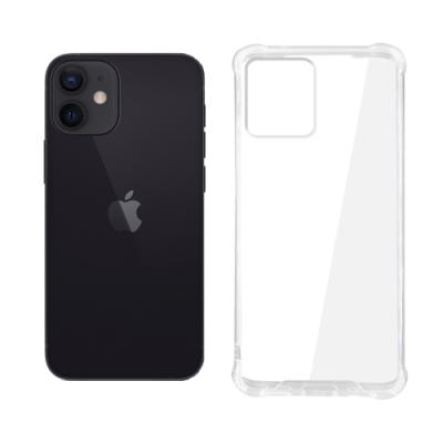 【SHOWHAN】iPhone 12 mini 四角強化TPU矽膠+PC背板氣囊防摔空壓殼