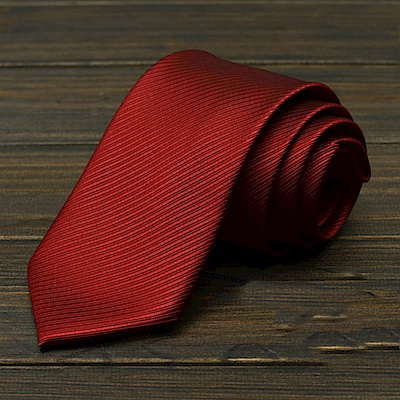 拉福   斜紋領帶8cm寬版領帶拉鍊領帶 (兒童多色)