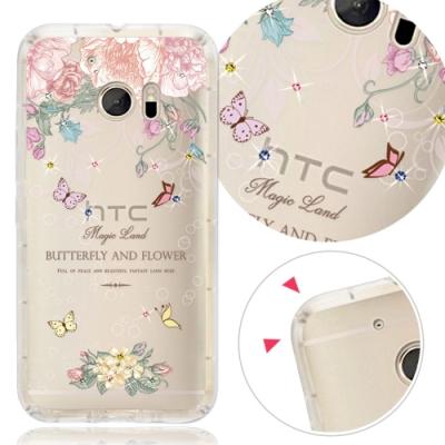 YOURS HTC 全系列 彩鑽防摔手機殼-蝴蝶谷