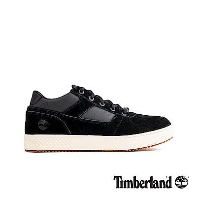 Timberland 男款黑色絨面革休閒鞋|A1Z49