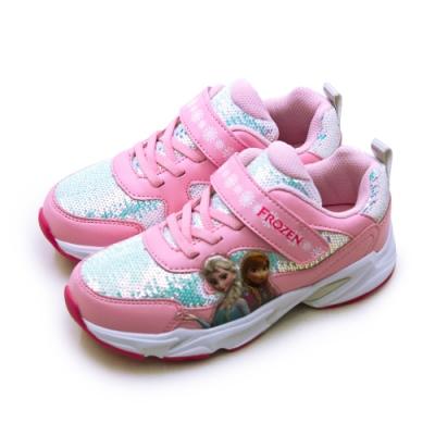Disney 迪士尼 冰雪奇緣 FROZEN 電燈慢跑鞋 粉紅 94423