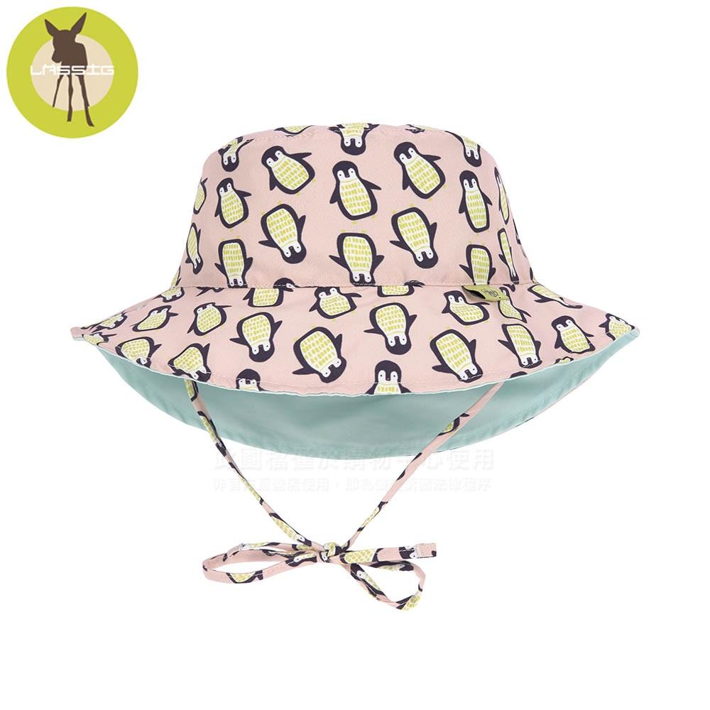 德國Lassig-嬰幼兒抗UV海灘遮陽帽-粉企鵝