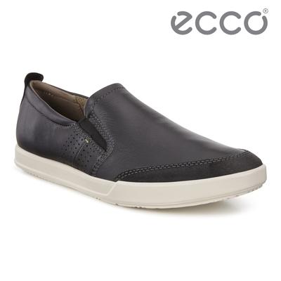 ECCO COLLIN 2.0 時尚拼接素色套入式休閒鞋 男鞋 黑色