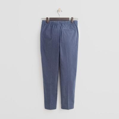 Hang Ten - 女裝 - 綁帶鬆緊修身八分褲-藍