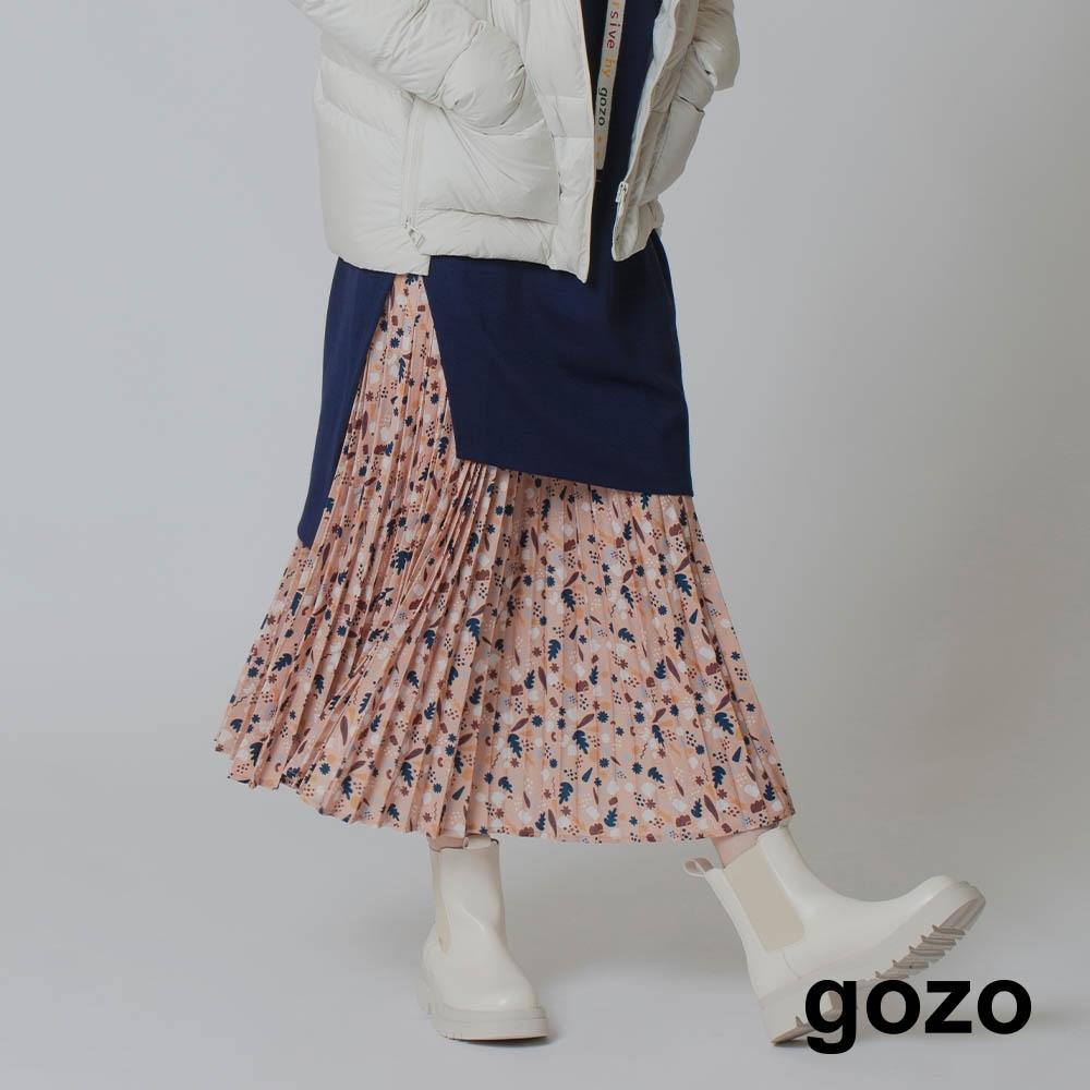 gozo-印花壓褶裙(兩色) product image 1
