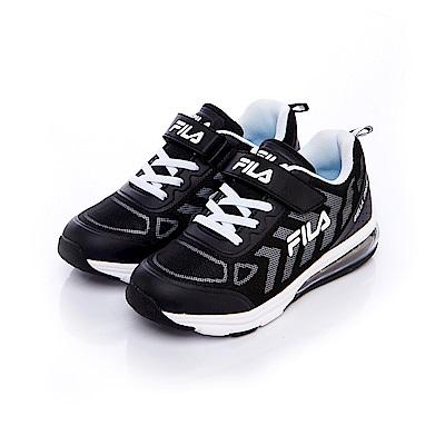 FILA KIDS 大童氣墊MD慢跑鞋-黑3-J807S-001