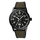 SEIKO 格紋元素日期時尚腕錶-綠X黑(SUR325P1)/41mm