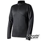 PolarStar 中性 高領拉鍊保暖衣『黑』P19215