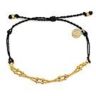 Pura Vida 美國手工 金色Plain Chain 黑色臘線可調式手鍊防水衝浪手繩