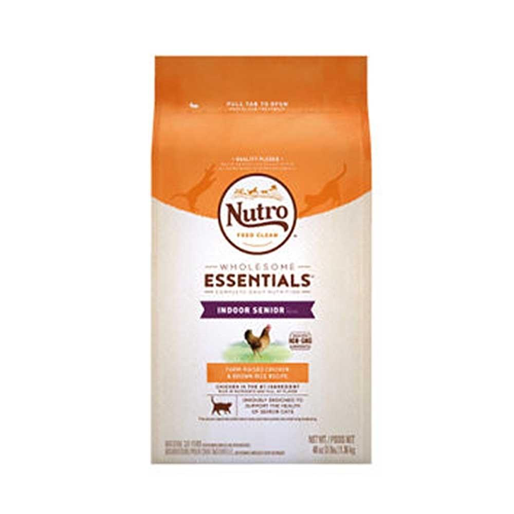 Nutro美士 全護營養室內熟齡貓化毛配方(農場鮮雞+糙米)14LB