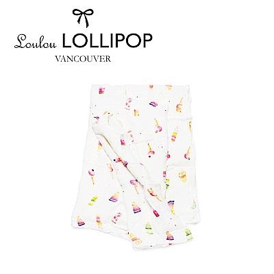 加拿大Loulou lollipop 竹纖維透氣包巾120x120cm-甜甜冰淇淋