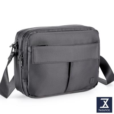 74盎司 U系列 雙層雙口袋側背包[G-1042-U-M]黑