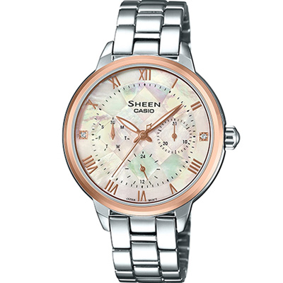 CASIO SHEEN 耀眼時尚錶(SHE-3055SG-7A)34.3mm