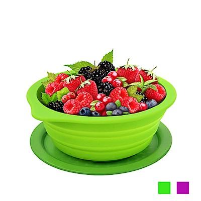 Lexngo矽膠摺疊水果盤連砧板