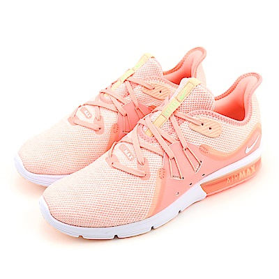 NIKE-AIR MAX SEQUENT 3女慢跑鞋-粉