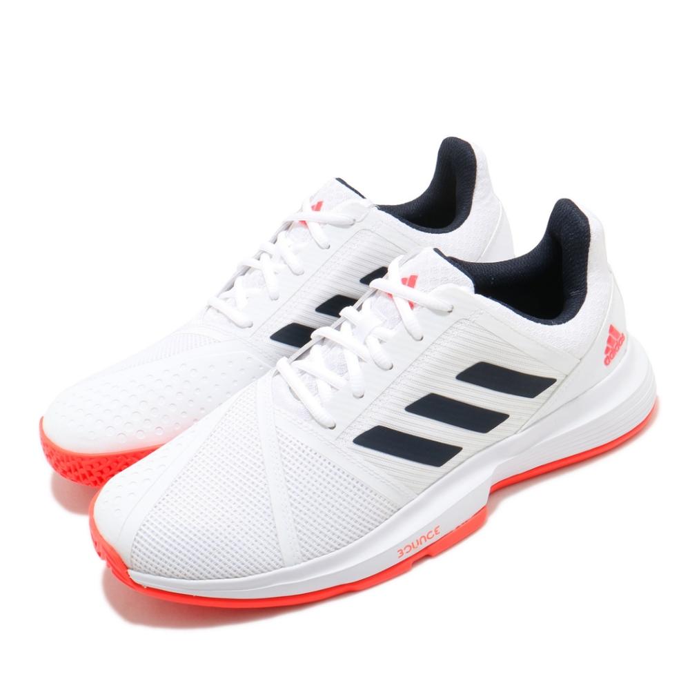 adidas 網球鞋 CourtJam Bounce 男鞋 愛迪達 輕量 耐磨 避震 球鞋穿搭 白 黑 FU8102