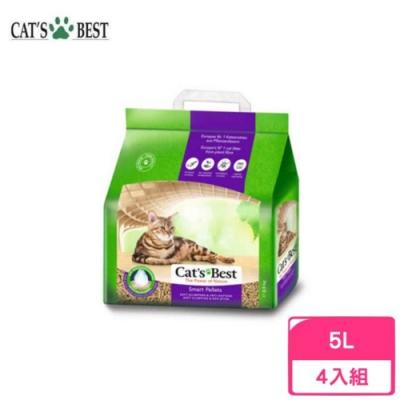 德國凱優Cat′s Best-特級無塵凝結木屑砂(紫標凝結型) 5L/2.5kg 四包組