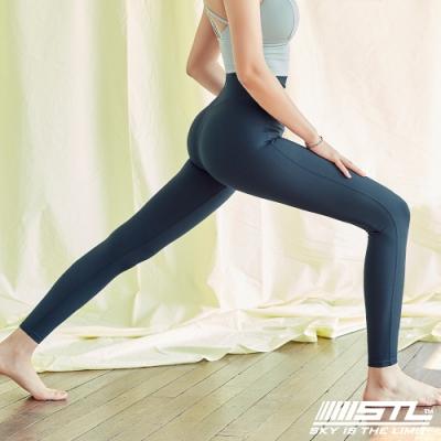 STL Yoga Leggings Free Line 9 韓國瑜珈『無尷尬線』 高腰壓腹 訓練拉提緊身褲 自由曲線 午夜藍 重訓/路跑/登山/瑜珈
