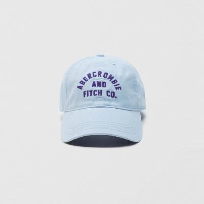 A&F 經典電繡文字復古鴨舌老帽-水藍色 AF Abercrombie