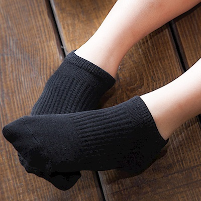 【Titan】太肯純棉學生船型襪_黑_5雙(適合學生、上班族、基本款穿搭)