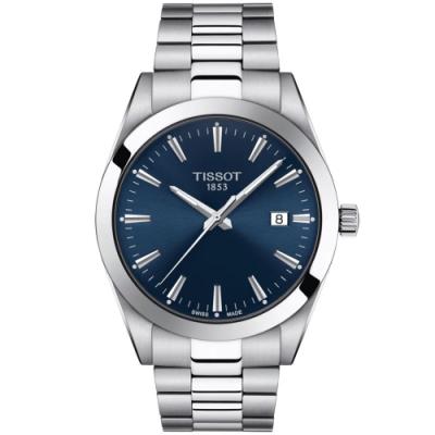 Tissot Gentleman 天梭紳士系列正裝腕錶-41mm 藍