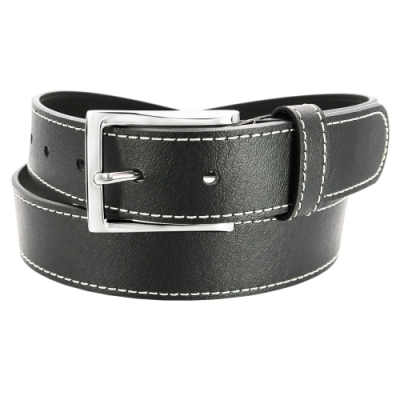 CH-BELT米白車線造型休閒風格皮帶腰帶(黑)