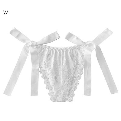 aimerfeel 緞帶蝴蝶結丁字褲-白色-959223-W