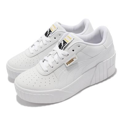 Puma 休閒鞋 Cali Wedge 經典 厚底 女鞋 海外限定 修飾腿型 增高 穿搭 白 373438-01