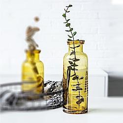 Homely Zakka 北歐經典復古萬用玻璃瓶-大(活力黃)