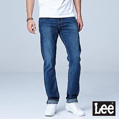 Lee 726中腰舒適小直筒牛仔褲-中深藍色