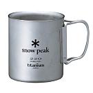 Snow Peak MG-051FHR 鈦合金雙層杯-折疊把手 220ml