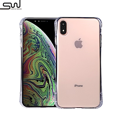 SIMPLE WEAR Apple iPhone XR 專用GRIP全包覆透明TPU保護套