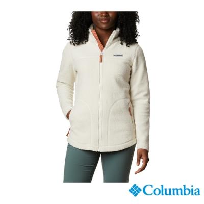 Columbia 哥倫比亞 女款- Omni HEAT 鋁點保暖毛絨外套-米白 UAL28860BG