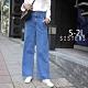 SISTERS 很修飾腿型的單寧直筒牛仔寬褲/S-2L product thumbnail 1