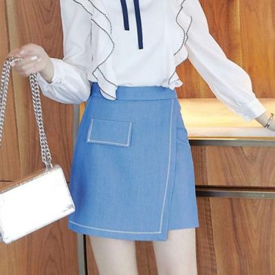 設計所在Lady-假兩件A字短裙(S-XL可選)